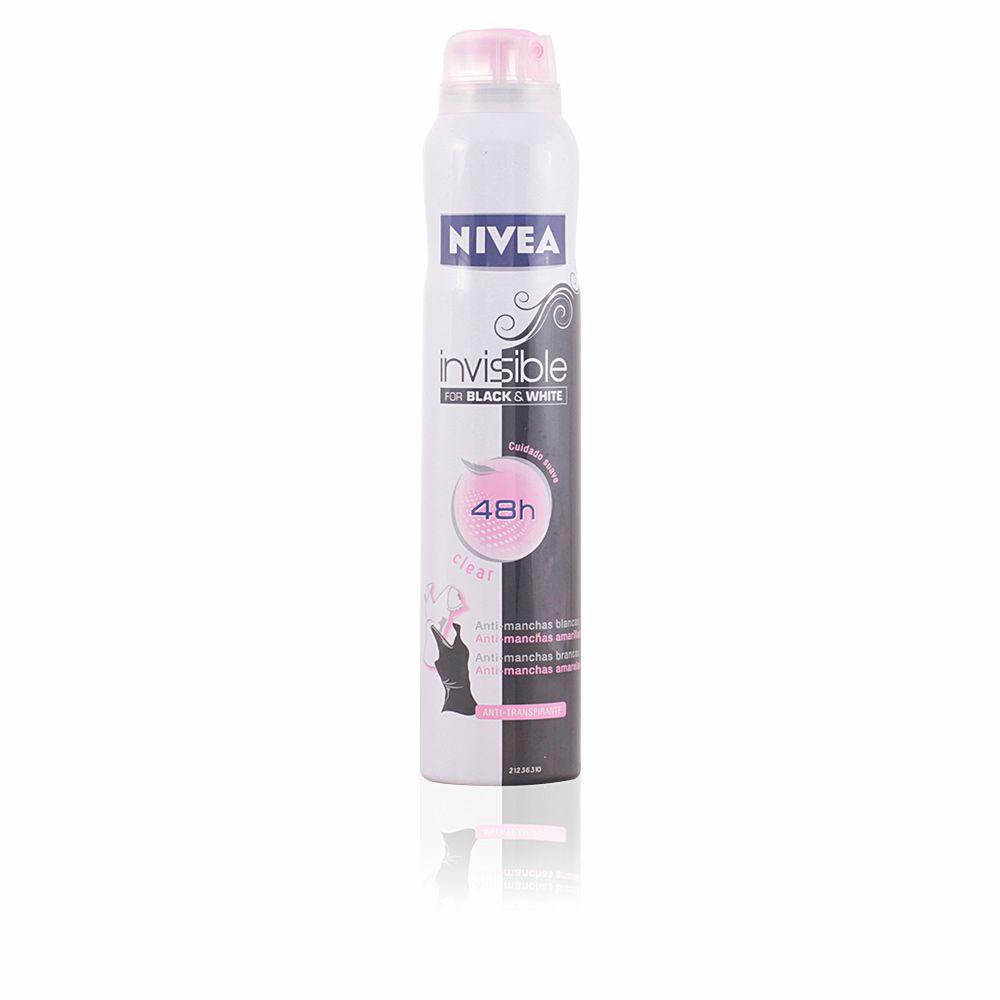 INVISIBLE BLACK & WHITE anti-transpirante spray clear