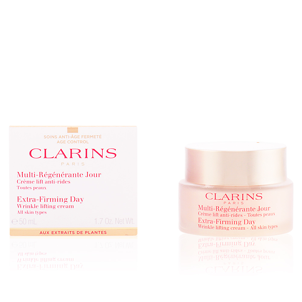 clarins multi r g n rante cr me jour tp tratamientos faciales en perfumes club. Black Bedroom Furniture Sets. Home Design Ideas
