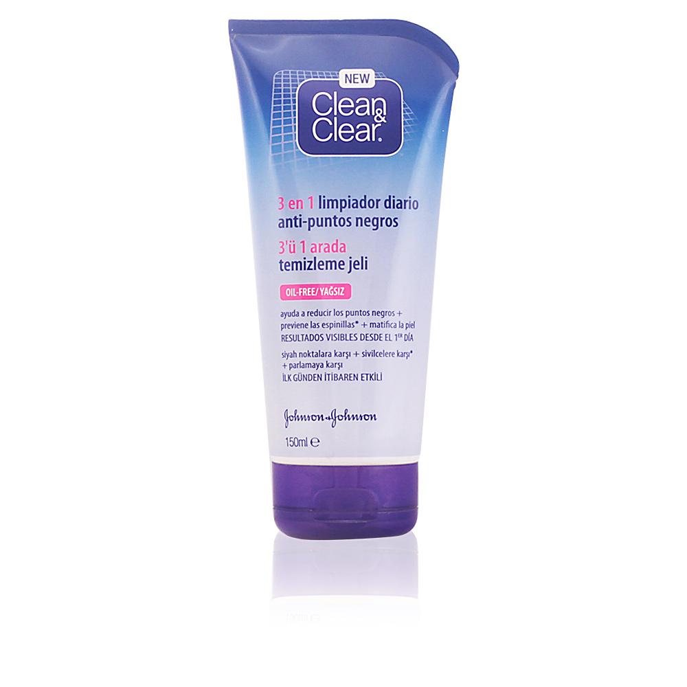 CLEAN & CLEAR PUNTOS NEGROS gel limpiador 3 en 1