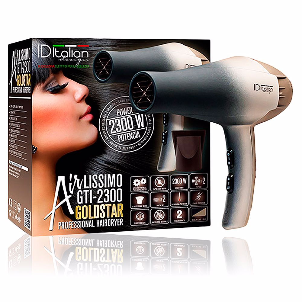 AIRLISSIMO GTI 2300 professional hairdryer gold star