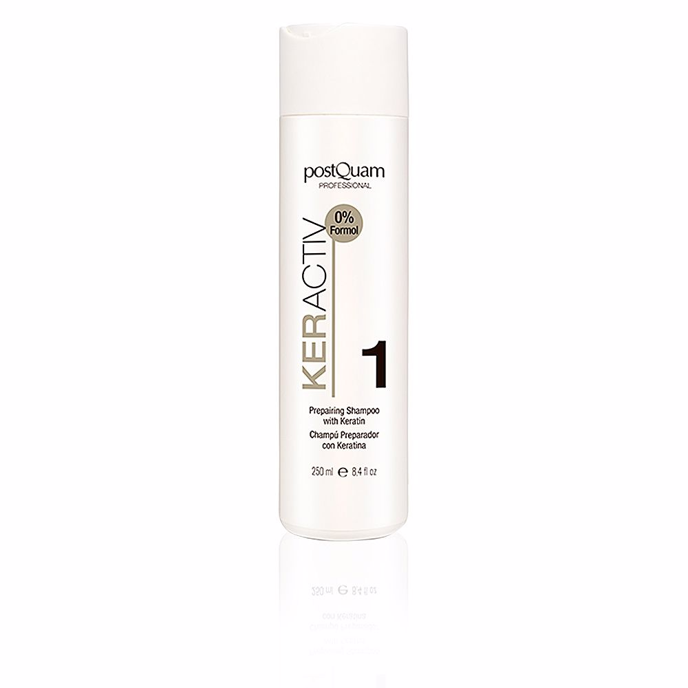 HAIRCARE KERACTIV preparing shampoo with keratin