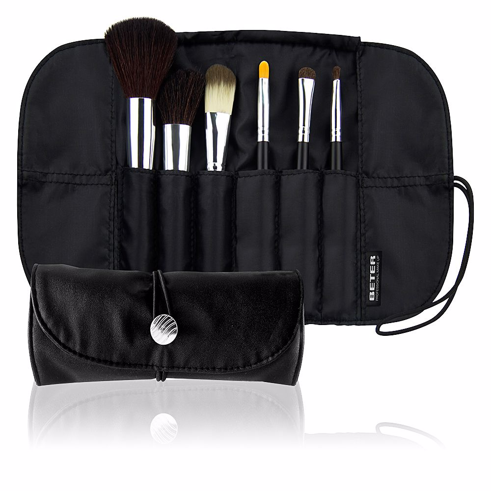 PROFESSIONAL estuche-manta con 6 brochas make up