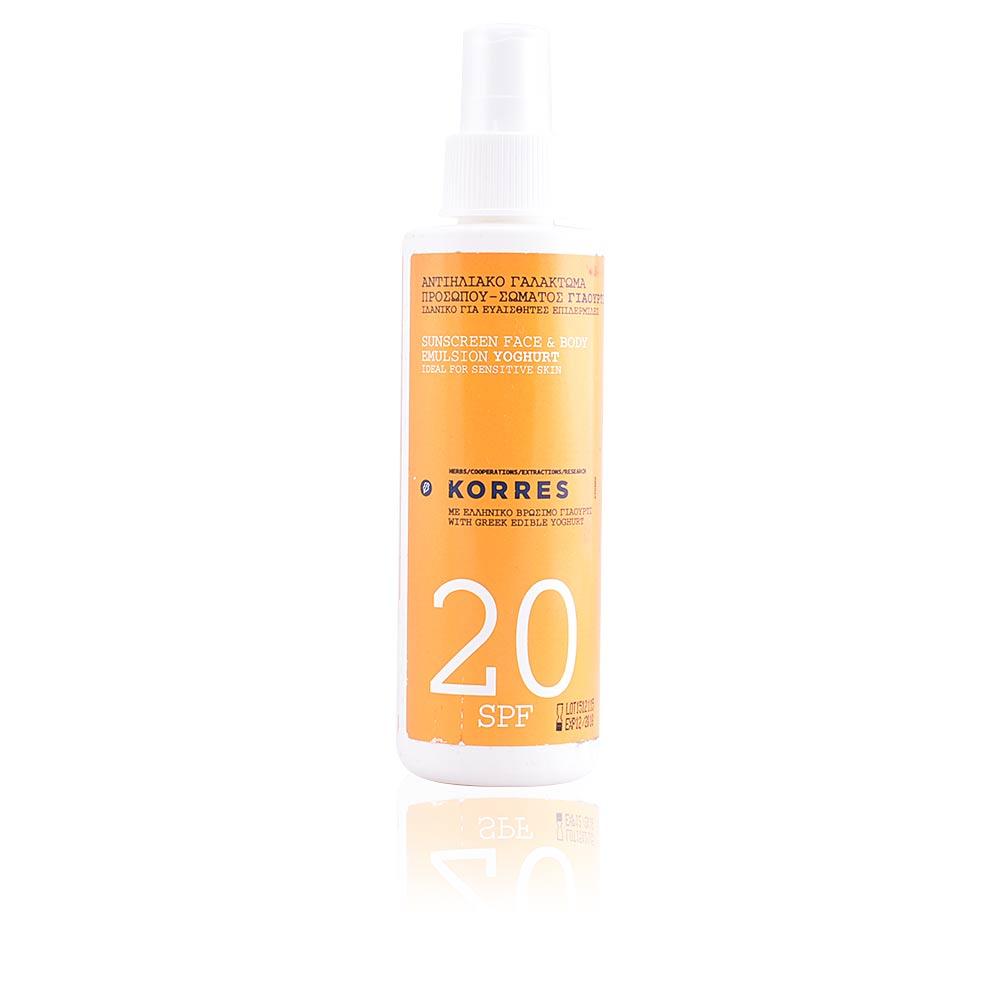SUNSCREEN face & body emulsion yoghurt  SPF20 spray