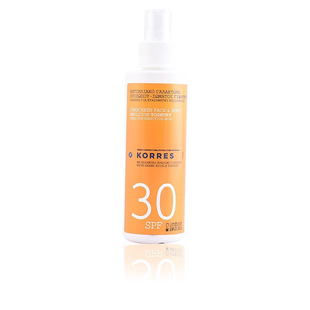 SUNSCREEN face & body emulsion yoghurt SPF30 spray