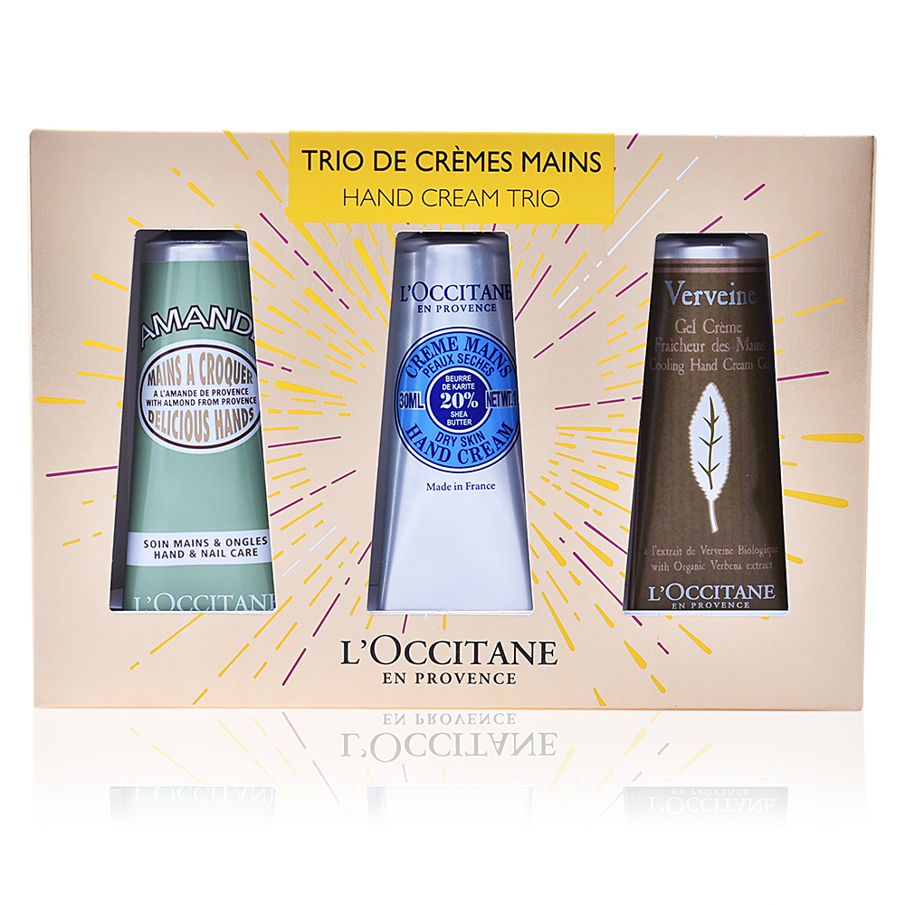 l 39 occitane mains trio de cr mes mains coffret sur perfume 39 s club. Black Bedroom Furniture Sets. Home Design Ideas