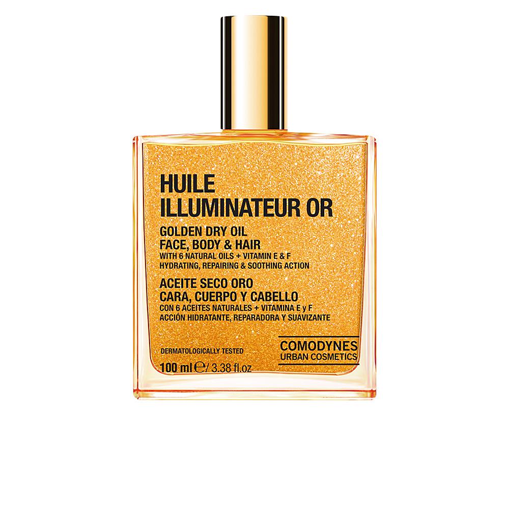 HUILE ILLUMINATEUR OR golden dry oil face body & hair