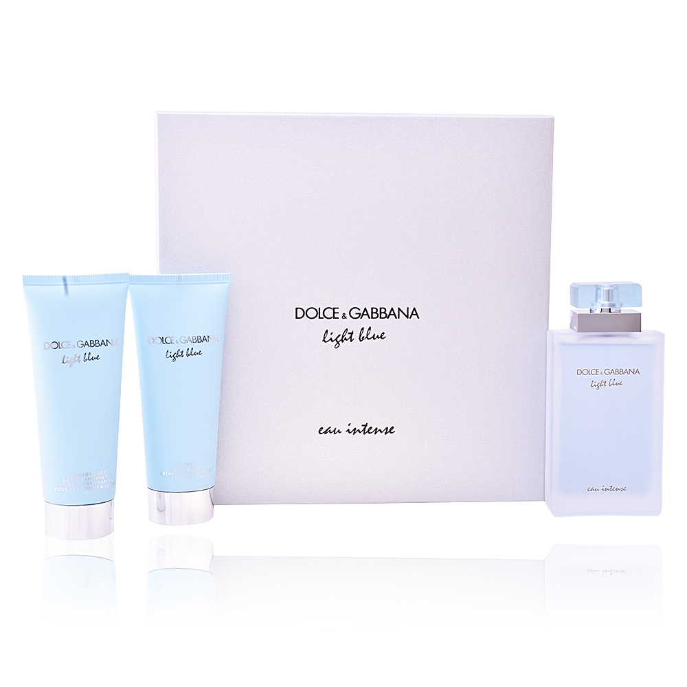 dolce gabbana eau de parfum light blue eau intense coffret sur perfume 39 s club. Black Bedroom Furniture Sets. Home Design Ideas