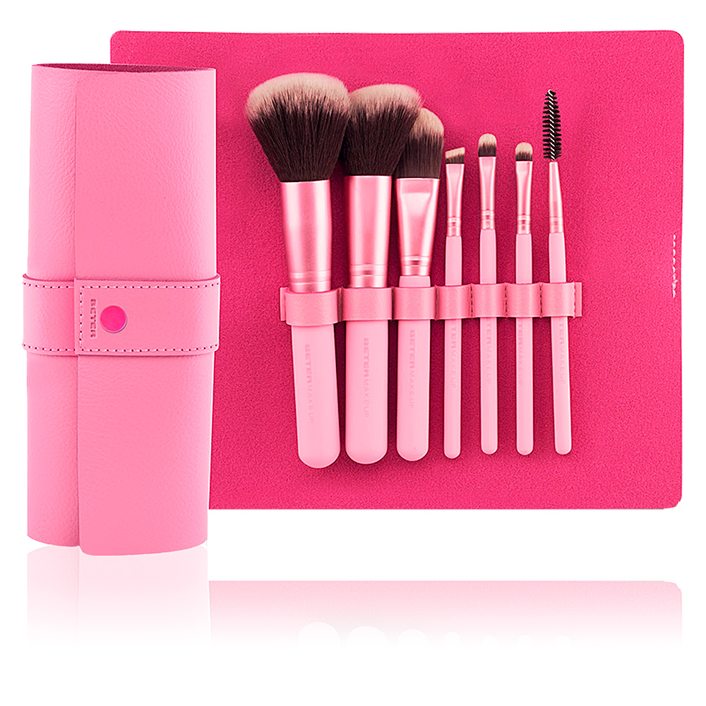 PROFESSIONAL PINK estuche-manta 7 brochas make up