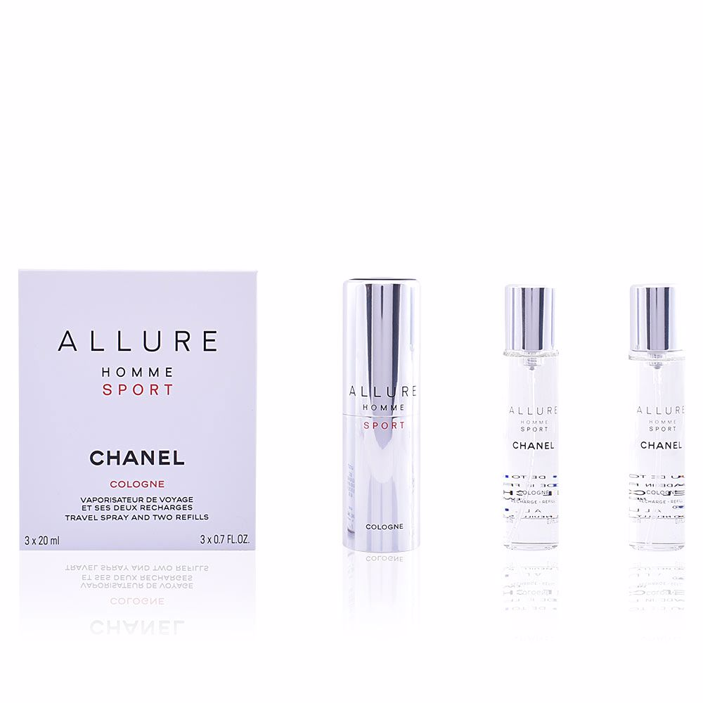 ALLURE HOMME SPORT COLOGNE travel spray 2 Recargas