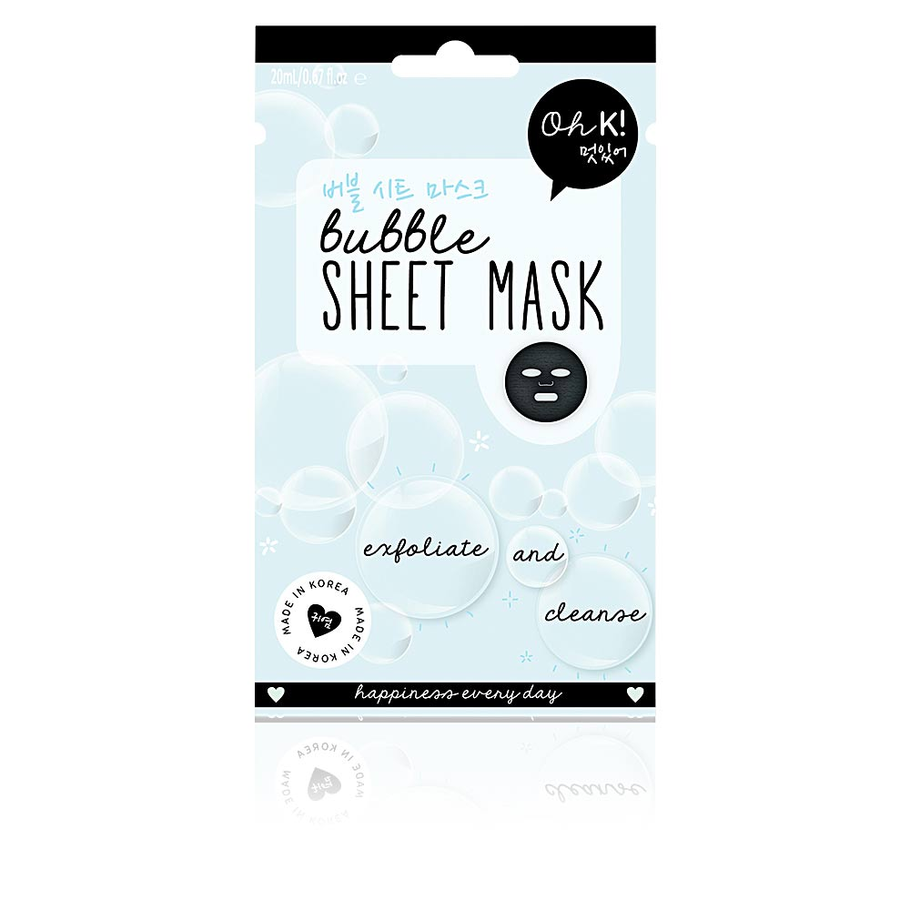 SHEET FACE MASK bubble exfoliate and cleanse