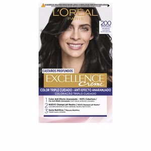 Dye EXCELLENCE BRUNETTE #200-true darkest brown L'Oréal París