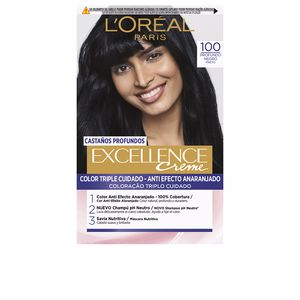 Tintes EXCELLENCE BRUNETTE #100-true black L'Oréal París