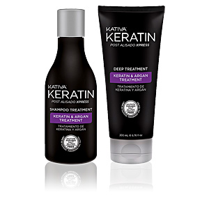 Hair straightening treatment KERATIN POST ALISADO EXPRESS SET Kativa