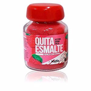 Nail polish remover QUITAESMALTE ESPONJA ACETONA aroma fresa Katai Nails
