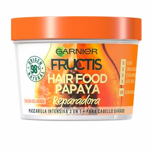Hair mask for damaged hair FRUCTIS HAIR FOOD papaya mascarilla reparadora Garnier