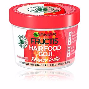 Shiny hair mask FRUCTIS HAIR FOOD goji mascarilla reaviva brillo Garnier