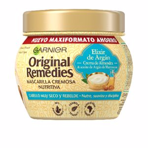 Hair mask for damaged hair ORIGINAL REMEDIES mascarilla elixir argán Garnier