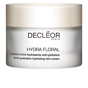 Face moisturizer HYDRA FLORAL crème riche hydratante anti-pollution Decléor
