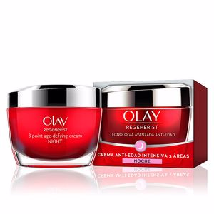 Anti aging cream & anti wrinkle treatment REGENERIST 3 AREAS crema noche anti-edad intensiva Olay