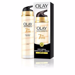 Cremas Antiarrugas y Antiedad TOTAL EFFECTS dúo crema + serum anti-edad SPF20 Olay