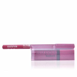 Lipsticks ROUGE ÉDITION VELVET lipstick #14 + contour lipliner #5 Bourjois