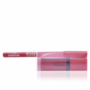 Pintalabios y labiales ROUGE ÉDITION VELVET lipstick #01 + contour lipliner #7 Bourjois