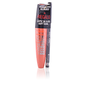 Batom SCANDALEYES RELOADED mascara #001-black+kajal eye pencil #61 Rimmel London