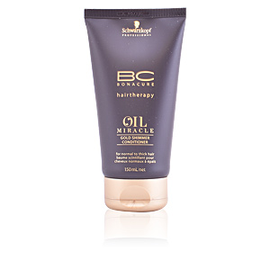Shiny hair products BC OIL MIRACLE gold shimmer conditioner Schwarzkopf