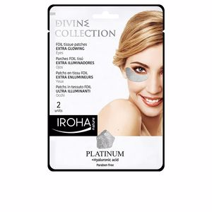 Dark circles, eye bags & under eyes cream PLATINUM tissue eyes patches extra glowing Iroha Nature