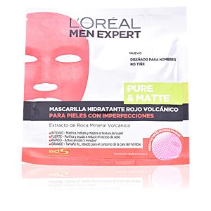 Face mask MEN EXPERT mascarilla pure&matte rojo volcánico L'Oréal París
