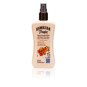 Lichaam SATIN PROTECTION sun lotion spray SPF15 Hawaiian Tropic