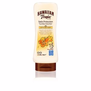Lichaam SATIN PROTECTION ultra radiance sun lotion SPF15 Hawaiian Tropic