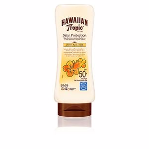 Lichaam SATIN PROTECTION ultra radiance sun lotion SPF50+ Hawaiian Tropic