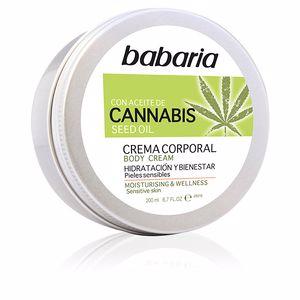 Body moisturiser CANNABIS crema corporal hidratante y bienestar Babaria