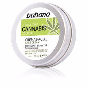 Tratamiento Facial Hidratante CANNABIS crema facial nutrición y bienestar Babaria