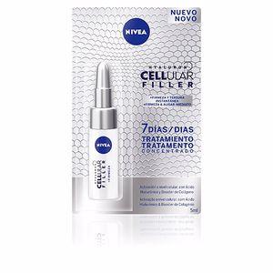 Tratamiento Facial Reafirmante HYALURON CELLULAR FILLER ampolla firmeza instantánea Nivea