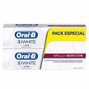 Pasta de dente 3D WHITE LUXE BRILLO SEDUCTOR DENTIFRICO LOTE Oral-B