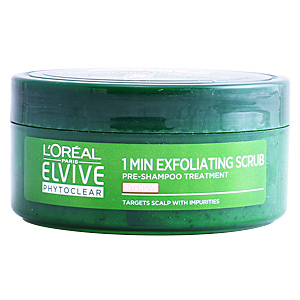 Hair - scalp exfoliation ELVIVE phytoclear anticaspa tratamiento pre-champú L'Oréal París