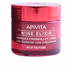 Tratamiento Facial Reafirmante WINE ELIXIR wrinkle & firmness lift cream rich texture Apivita