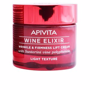 Tratamento para flacidez do rosto WINE ELIXIR wrinkle & firmness lift cream light texture Apivita