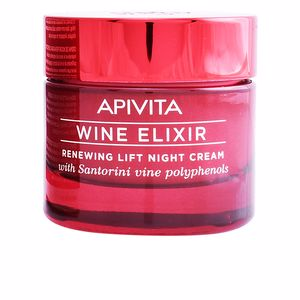 Tratamento para flacidez do rosto WINE ELIXIR renewing lift night cream Apivita