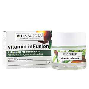 Anti aging cream & anti wrinkle treatment VITAMIN INFUSION tratamiento reparador noche  Bella Aurora