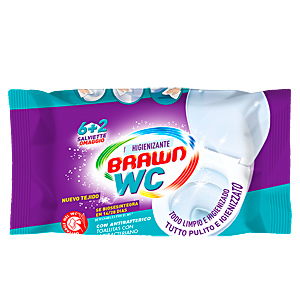 Wet wipes BRAWN SOS WC toallita antibacteriana biodegradable Fria