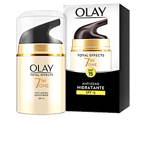 Tratamento para flacidez do rosto TOTAL EFFECTS anti-edad hidratante SPF15 Olay