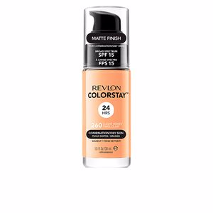 Revlon Make Up, COLORSTAY foundation combination/oily skin #260-light honey