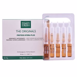 Face moisturizer - Antioxidant treatment cream THE ORIGINALS proteos hydra plus ampoules Martiderm