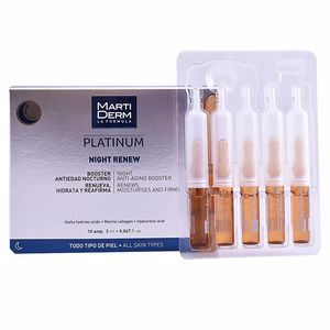Tratamento para flacidez do rosto PLATINUM NIGHT RENEW ampoules Martiderm