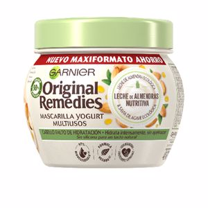 Hair mask for damaged hair ORIGINAL REMEDIES mascarilla leche almendras Garnier
