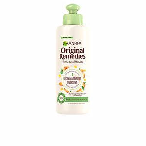 Hair repair conditioner ORIGINAL REMEDIES crema sin aclarado leche almendras Garnier
