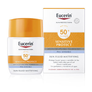 Gesichtsschutz SENSITIVE PROTECT sun fluid mattyfying SPF50+ Eucerin